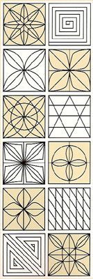 any one of these would be a great pattern for machine or hand quilting a single quilt {sashiko patterns}