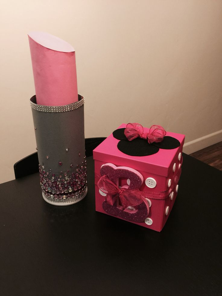 Lipstick & Minnie Mouse Valentine boxes | For the love of ...