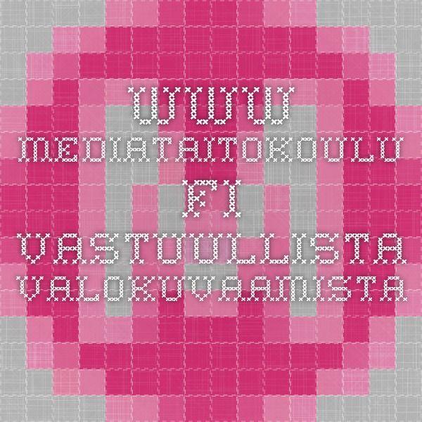 www.mediataitokoulu.fi VASTUULLISTA VALOKUVAAMISTA