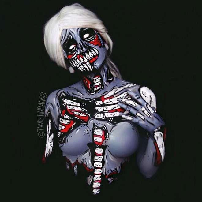 Cette jeune femme réalise des body-painting incroyables... sur elle-même !