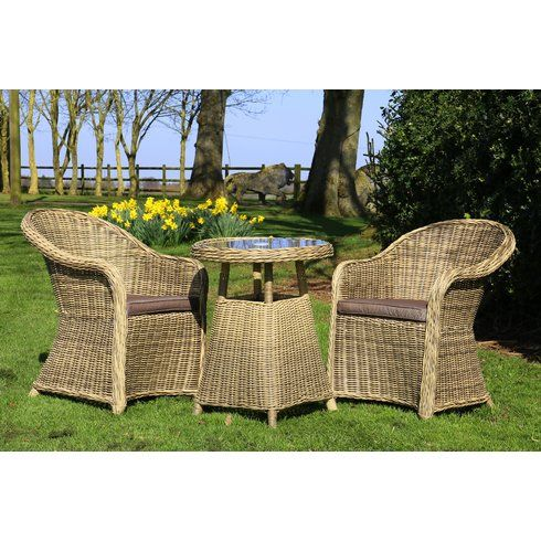 2 Seater Dining Set with Cushions and Parasol