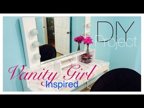 DIY  Vanity Mirror with Lights   YouTube. 17 Best images about DIY Vanity Area on Pinterest   Makeup storage