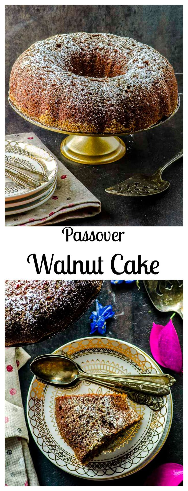 Pastel de Nuez is an old Sephardic family recipe. It is a delicious, moist kosher for passover Cinnamon Walnut Cake #passover #Cake #Dessert #walnut #cinnamon via @mayihavethatrecipe