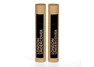 China Tubo redondo de lujo del papel del perfume de la caja de la botella de perfume de Brown con la tapa de papel movible proveedor