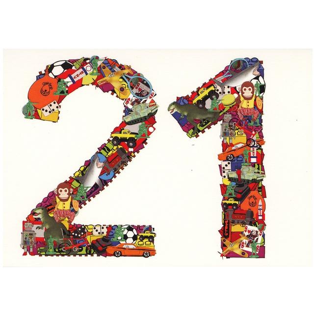 Boys Toys 21st Birthday Card - Folksy