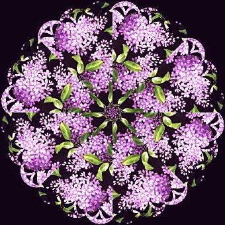 Lilacs Kaleidoscope Quilt Kit | Jelly Rolls 2 Go