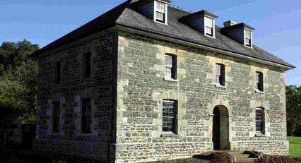 Stone Store, Kerikeri. Designed by Wesleyan missionary John Hobbs and built in the 1830s by ex-convict William Parrot and Maori labour, the Stone Store initially housed and traded mission goods.
