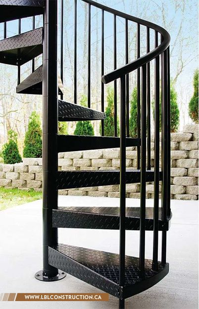 Spiral metal staircase. #metal #stairs #spiral info@lblconstruction.ca | +961 3 11 99 49