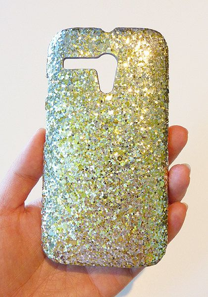 For Motorola Moto G Gold & Silver Cluster Sequin Phone Case For Motorola Moto G by Yunikuna