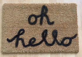 Personalize your doormat – easy peasy DIY