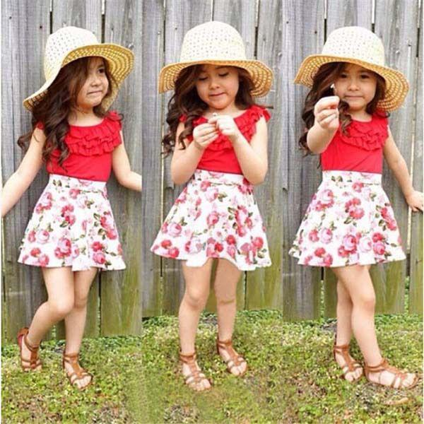 Popular casual verano vestido coreano vestido para niñas 2,7 t (Ulik,A0258