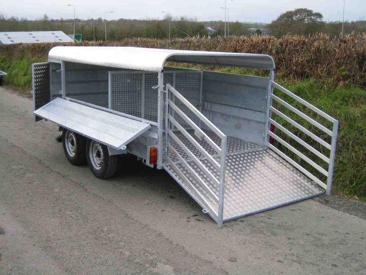New CLH 10 x 5 Dropside Livestock sheep/pig Trailer 2800kg   eBay
