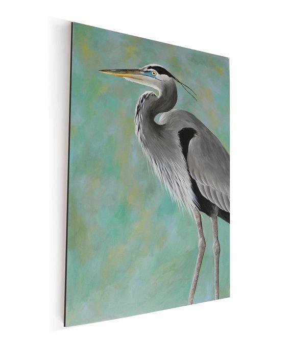 Heron canvas painting shore bird HUGE 24x36 canvas by BirdsinHand $350.00  sc 1 st  Pinterest & 23 best Painting - Craig Platt images on Pinterest | Bird art New ... 25forcollege.com