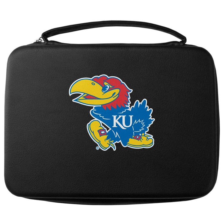 """Checkout our #LicensedGear products FREE SHIPPING + 10% OFF Coupon Code """"Official"""" Kansas Jayhawks GoPro Carrying Case - Officially licensed College product Water resistant case and zipper system Fits GoPro 1,2,3,3+ and 4 Insert fits camera, housings, SD memory card, battery, power plug, remote control, battery pack and LCD Kansas Jayhawks large printed logo - Price: $22.00. Buy now at https://officiallylicensedgear.com/kansas-jayhawks-gopro-carrying-case-cgp21"""