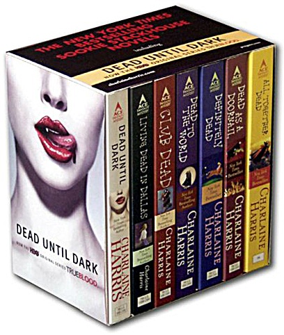 Sookie Stackhouse: Southern Vampire Mysteries a.k.a. True Blood books. Addicting.