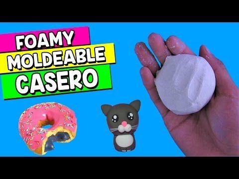 ► Haz FOAMY MOLDEABLE CASERO con 2 INGREDIENTES || FOAMY PARA MOLDEAR || HaunterMake - YouTube