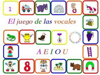 El paquete del centro con juegos de las vocales comprende unos materiales para la práctica independiente de las vocales en español. Se recomienda la impresión de los materiales en cartulina dura y laminarlas. Los materiales que comprenden el paquete son: -20 tarjetas de vocabulario de las vocales en tres formatos diferentes: sólo imagen, combinación imagen-palabra e imagen-palabra a las que les faltan los sonidos vocálicos. -2 tableros de juego (versión sólo imagen y versión sólo palabr...