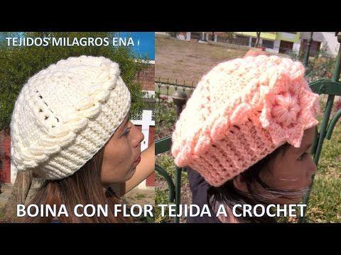 Boina tejida a crochet PARTE 2 en punto hojitas - YouTube