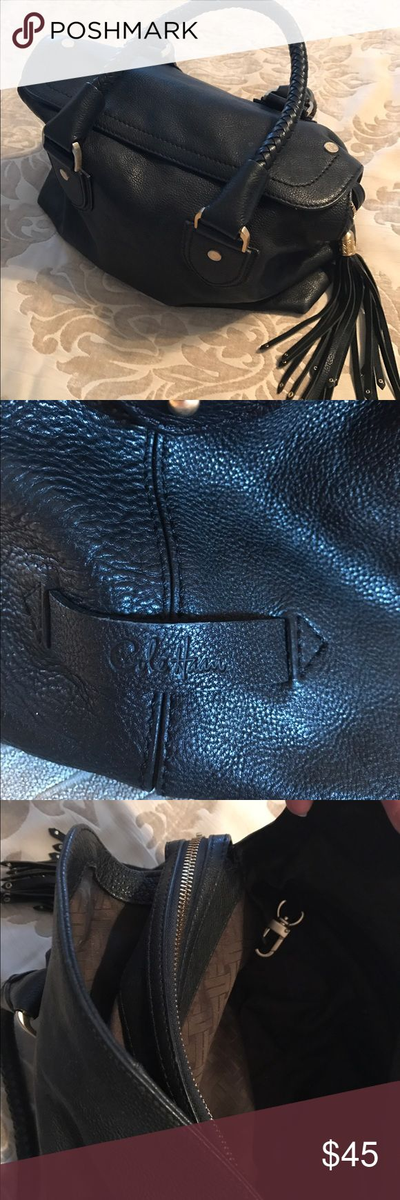 Cole Haan black leather handbag Gorgeous black leather Cole Haan purse in excellent condition. Have too many bags. Trying to consolidate. Cole Haan Bags Satchels