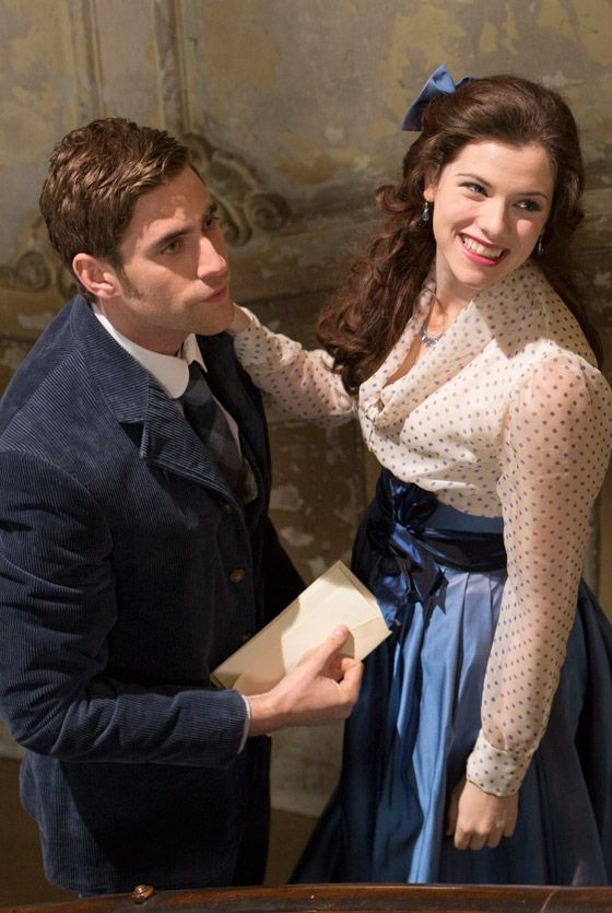 Jessica De Gouw and Oliver Jackson-Cohen as Mina and Harker in Episode 2 of Dracula TV Series - sky.com/dracula