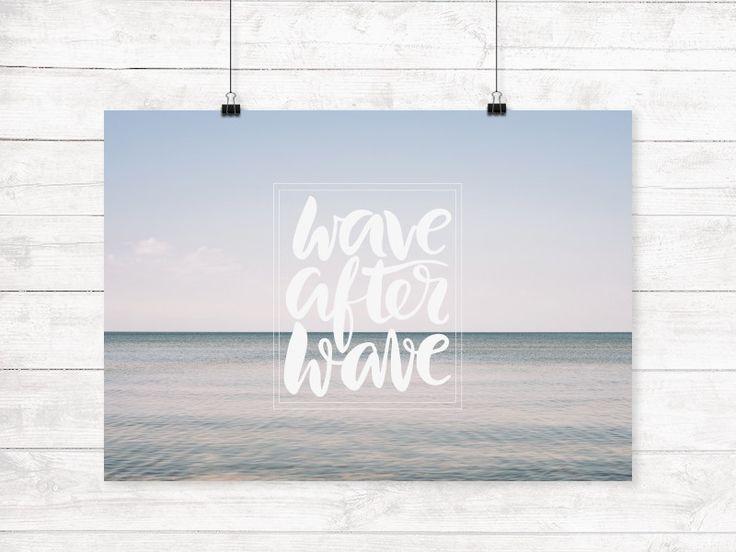 Digitaldruck - Wave after Wave - Kunstdruck - ein Designerstück von Mai-Laedchen bei DaWanda