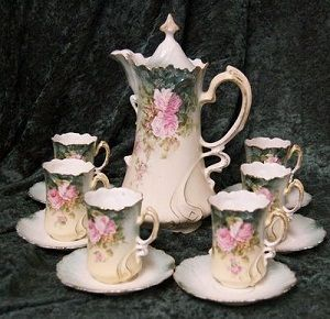 Charming Antique Hot Chocolate set. Very few, if any, young people and their parents are aware that there is such a thing. That's a shame! Not only are they lovely but, functional.Beverly Grace Smith