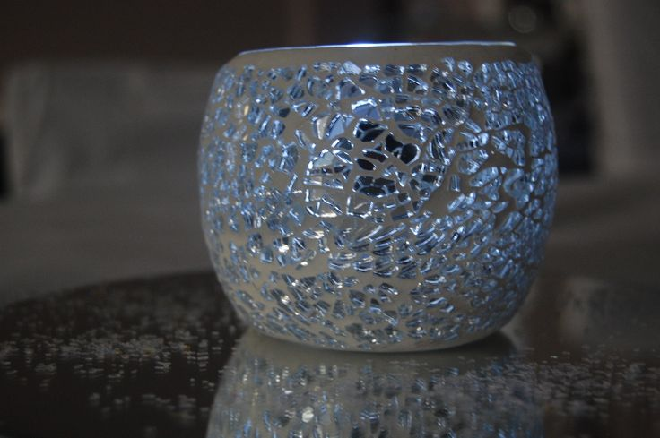 Mosaic tea candle holder