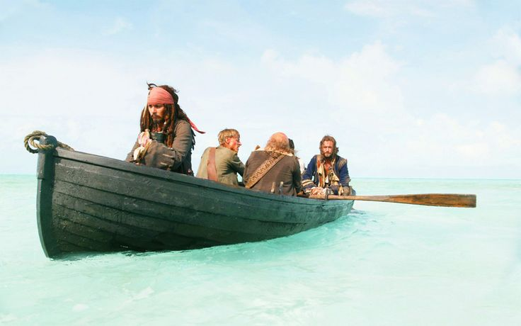 Captain Jack Sparrow, Ragetti, Pintel & Norrington