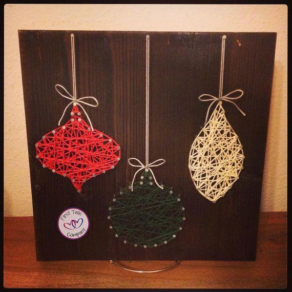Ornament string art christmas decor reserved listing decor string art and art - String ornaments christmas ...