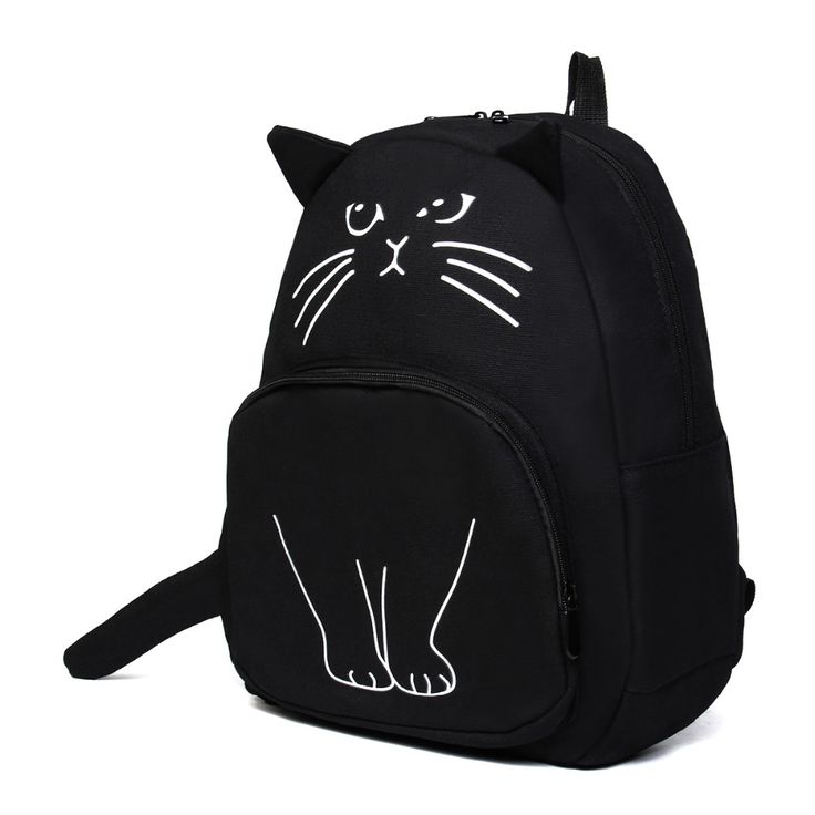 New Cute Cat Canvas Backpack (4 Colors)