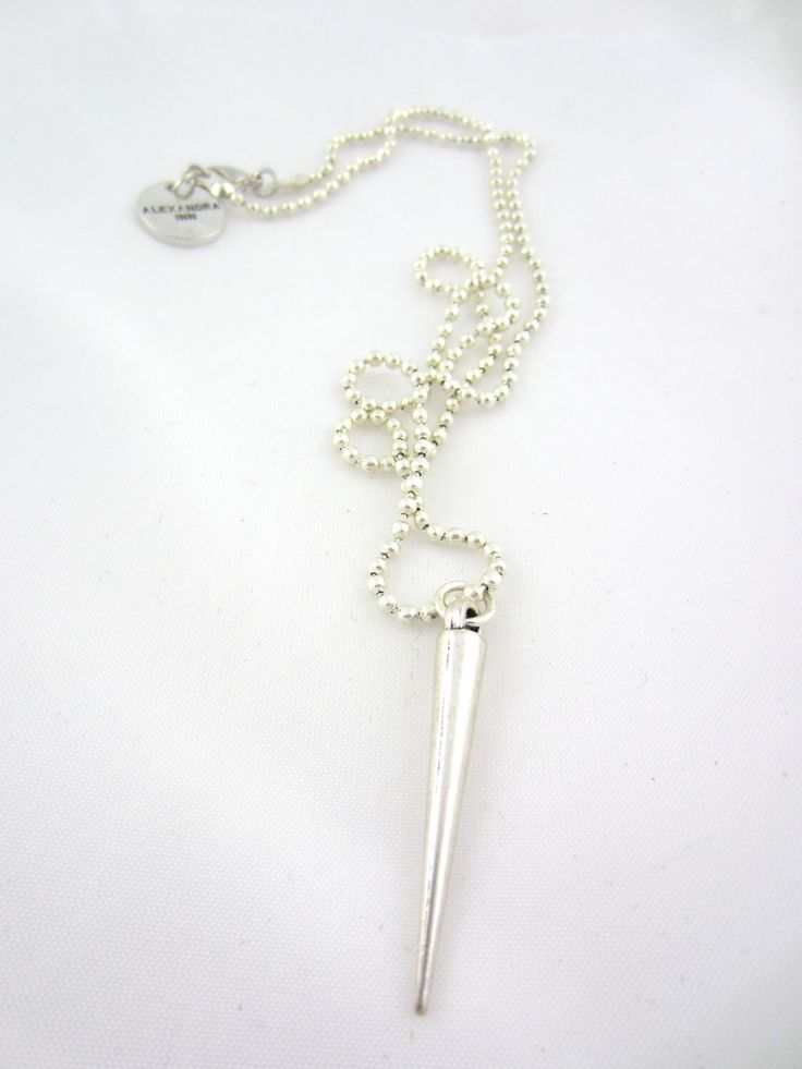 A personal favorite from my Etsy shop https://www.etsy.com/se-en/listing/230016081/spike-necklaces-in-metal-ball-chain