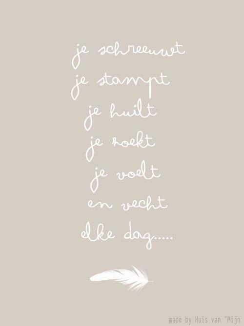 """Kaart, woorden, sterkte, ziek, design made by Huis van """"Mijn"""""""