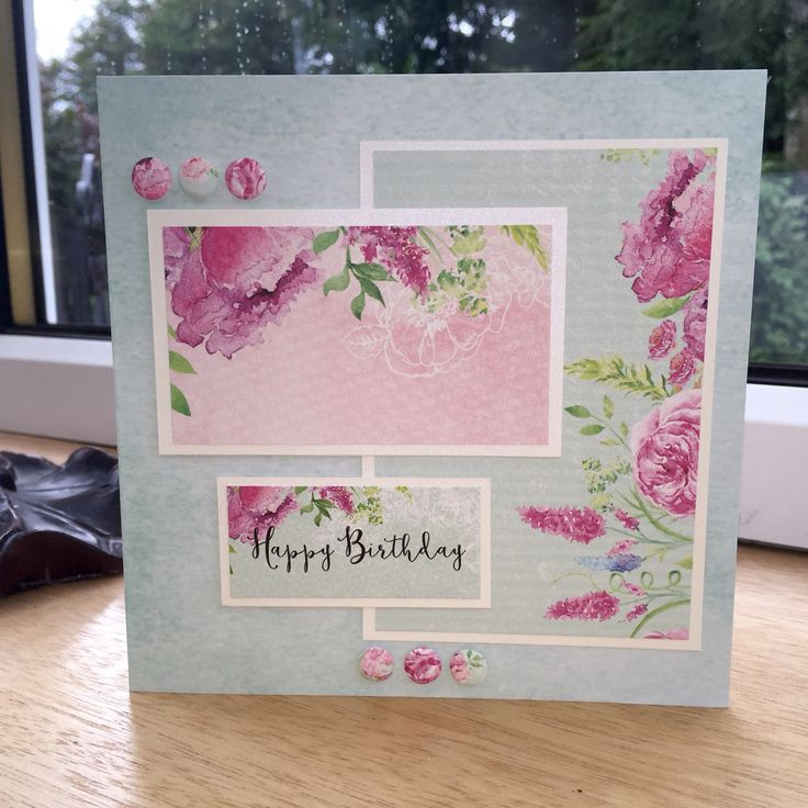 Birthday Card made with Craftwork Cards Heritage Rose Collection