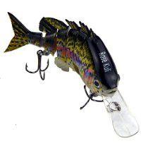 "Rose Kuli 3.8"" 6 Jointed Life-like Swimbait Hard Fishing Lure Bass Bait"