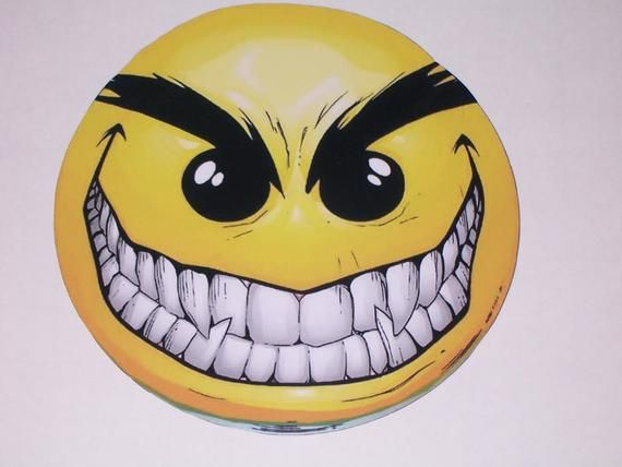 Evil Smile Face Cup Window Wall Or Door Decal Sticker Etsy In 2020 Evil Smile Smile Drawing Funny Faces Pictures
