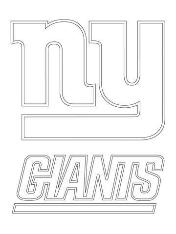 New York Giants Logo coloring page from NFL category. Select from 24284 printable crafts of cartoons, nature, animals, Bible and many more.