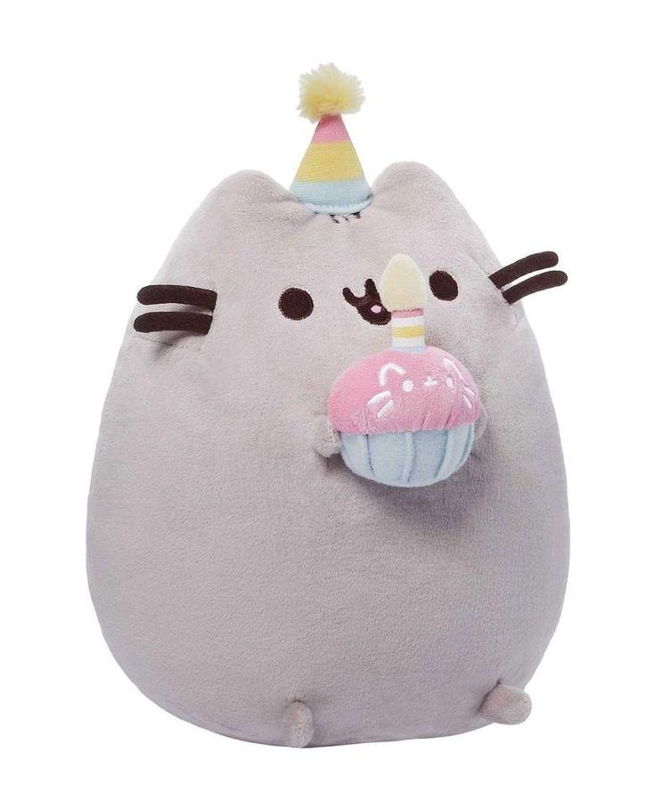 "Gund Pusheen Birthday Cupcake 10.5"" Let's Celebrate! #GUND"