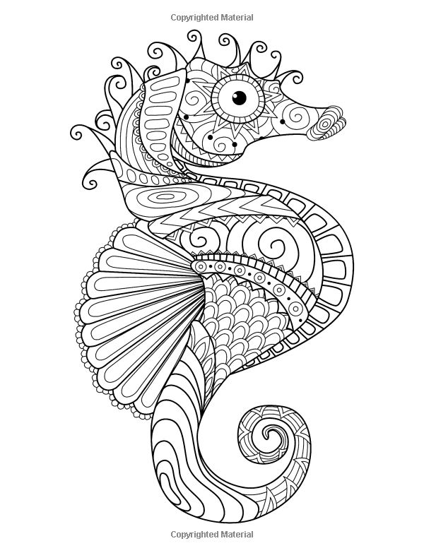 334 Best Under The Sea Coloring Pages For Adults Images On - under the sea coloring pages pinterest