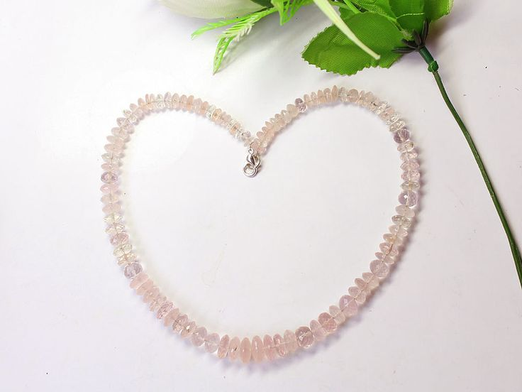 1 Strand Natural AAA Quality 100% Natural Rose Quartz Gemstone Beads Necklace Faceted Cut Rondelle 11mm-5mm Beads Strand 15'' Long Strand by zakariyagems on Etsy