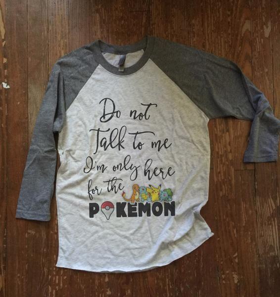 Pokemon go inspired funny tee shirt