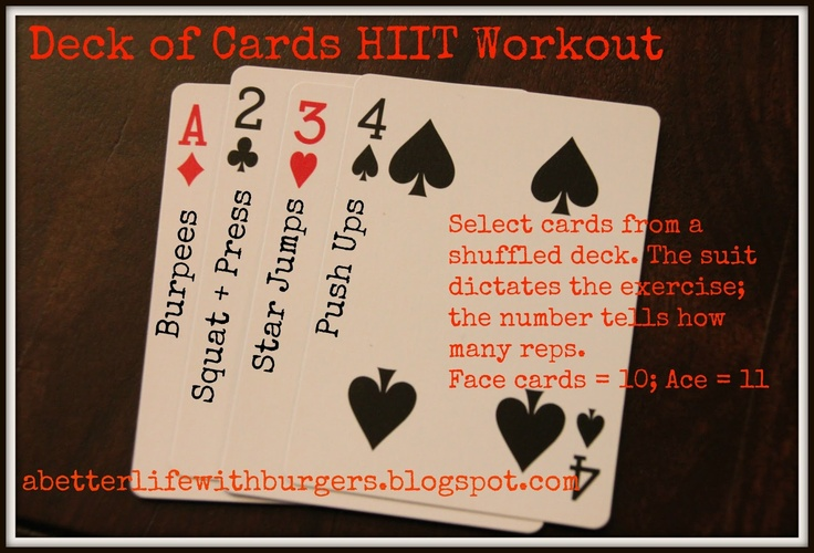 Deck of Cards HIIT Workout