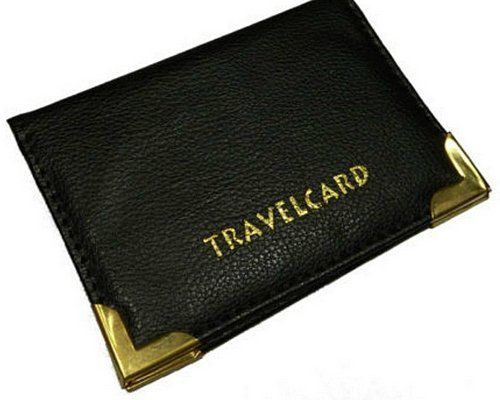 Bus-Pass-Card-Holder-Wallet-Credit-Travel-Train-Case-Soft-Leather-Wallets-Black
