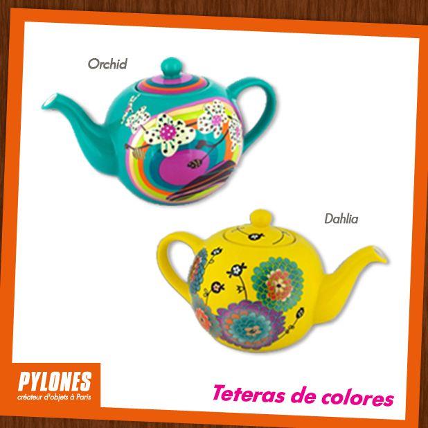 Teteras de colores Orchid Y Dahlia. @pylonesco #pylonesco
