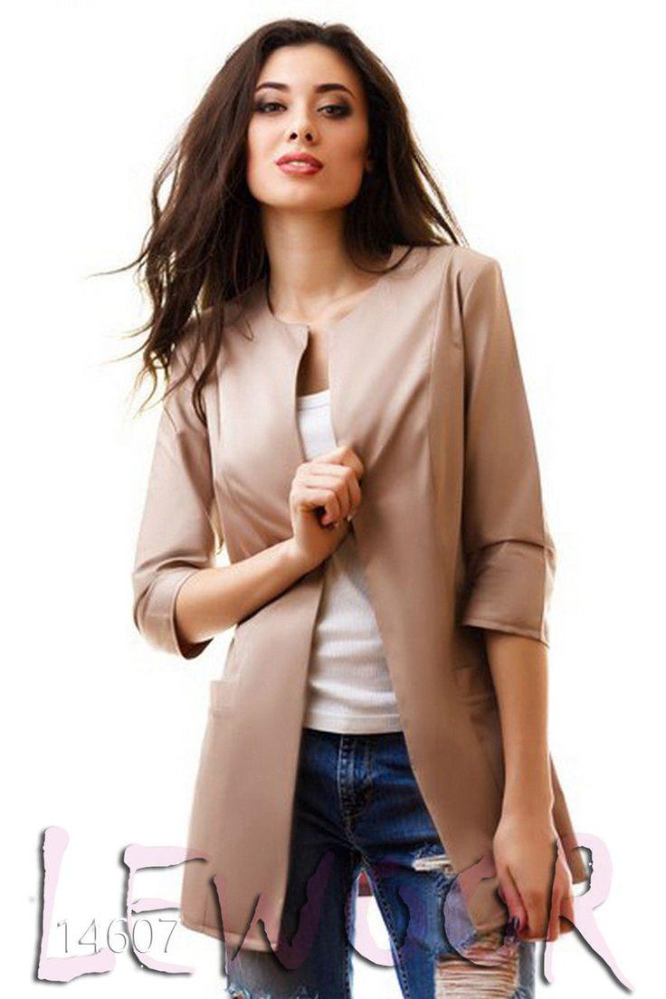 Весенний удлинённый пиджак - купить оптом и в розницу, интернет-магазин женской одежды lewoor.com