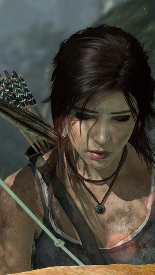 Lara Croft voiced by Camilla Luddington
