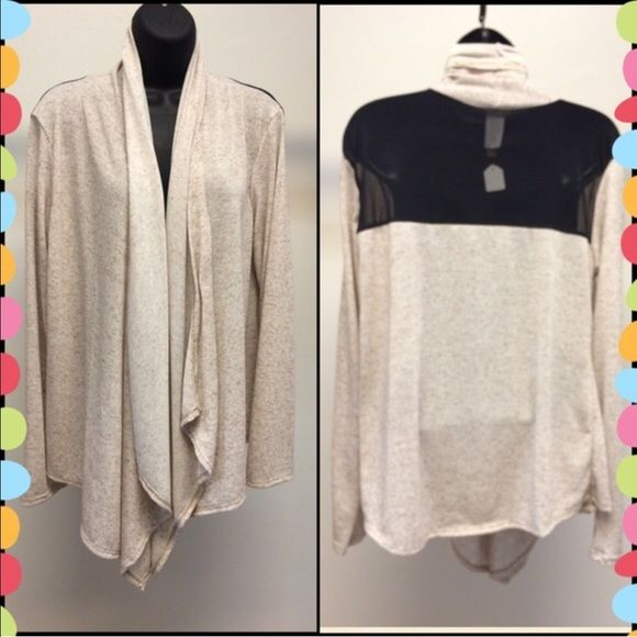 SALE Plus Size Cardigan with Mesh Back. Plus Size Cardigan with Mesh Back Tops