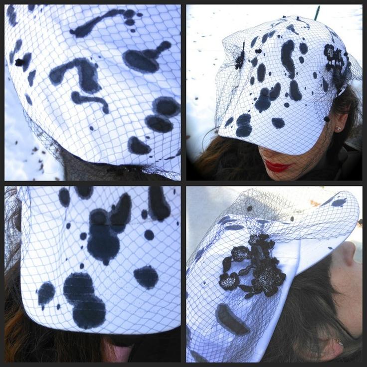 idea outfit cappello basket con veletta  ricamo vintage,accessori dalmata mariagrazia panizzi, streetstyle, amanda marzolini fashion outfit blogger professional accessori, the fashionamy, parma,