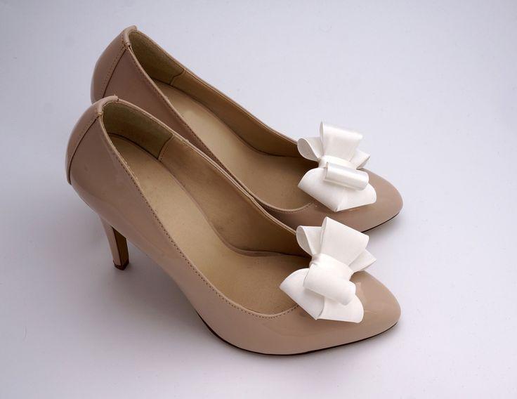 Klipsy do butów- Kokardki 3D Ivory - Coquet-Art - Klipsy do butów
