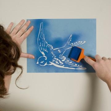 pretty bird stencilDiy Ideas, Crafts Ideas, Apartments Ideas, Swallows Stencils, House Ideas, Birds Stencils, Creative Stash, Crafty Diy, Crafty Ideas