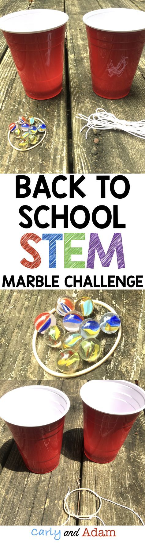 Back to School STEM Challenge! This challenge is perfect for building teamwork and problem solving skills at the beginning of the school year!